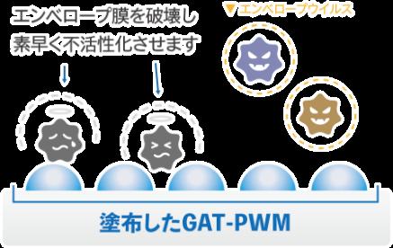 塗布したGAT=PWM